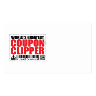 World's Greatest Coupon Clipper Double-Sided Standard Business Cards (Pack Of 100)
