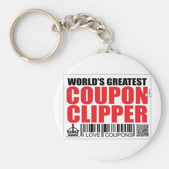 World's Greatest Coupon Clipper Keychain