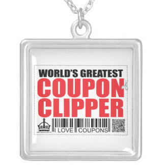 World's Greatest Coupon Clipper Square Pendant Necklace