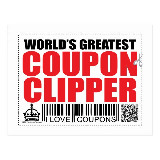 World's Greatest Coupon Clipper Postcard