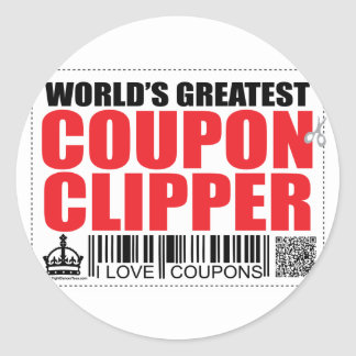 World's Greatest Coupon Clipper Classic Round Sticker