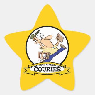 WORLDS GREATEST COURIER MEN CARTOON STAR STICKER