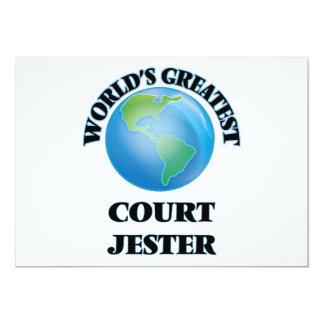 World's Greatest Court Jester 5x7 Paper Invitation Card