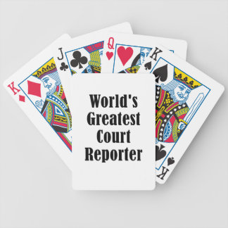 Worlds Greatest Court Reporter Bicycle Playing Cards