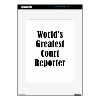 Worlds Greatest Court Reporter Decal For The iPad