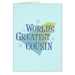 Note Card with World's Greatest Cousin design