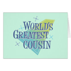 Greeting Card with World's Greatest Cousin design