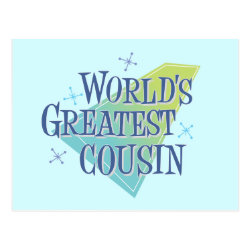 Postcard with World's Greatest Cousin design