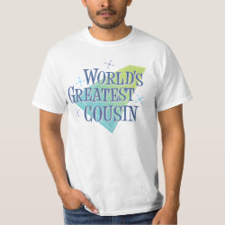 Men's Crew Value T-Shirt with World's Greatest Cousin design