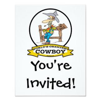 WORLDS GREATEST COWBOY II CARTOON CARD