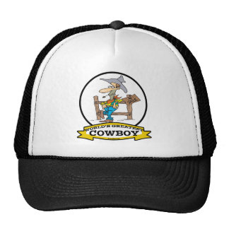 WORLDS GREATEST COWBOY II CARTOON TRUCKER HAT