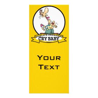 WORLDS GREATEST CRY BABY CARTOON CUSTOM RACK CARDS