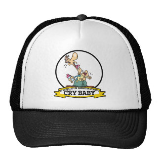 WORLDS GREATEST CRY CARTOON TRUCKER HAT
