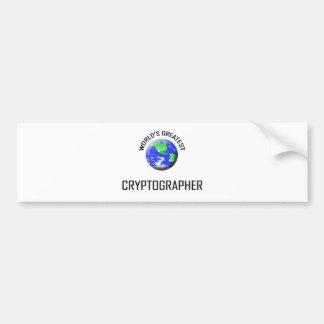 World's Greatest Cryptographer Car Bumper Sticker