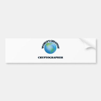 World's Greatest Cryptographer Car Bumper Sticker