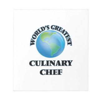World's Greatest Culinary Chef Memo Pad