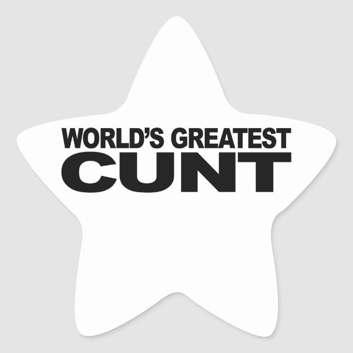 World's Greatest Cunt Star Sticker