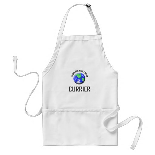 World's Greatest Currier Adult Apron