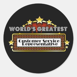 World's Greatest Customer Service Representative Classic Round Sticker