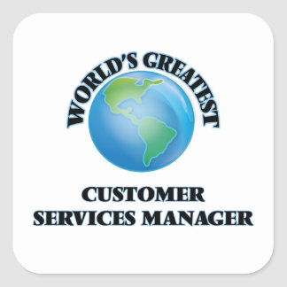 World's Greatest Customer Services Manager Stickers