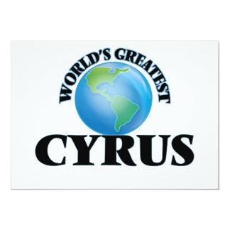 World's Greatest Cyrus 5x7 Paper Invitation Card