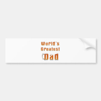 World's Greatest Dad 1 Bumper Sticker