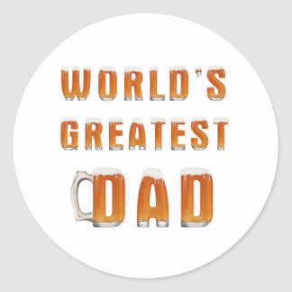 World's Greatest Dad 2 Classic Round Sticker