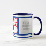 World's Greatest Dad add 2 photos blue mug