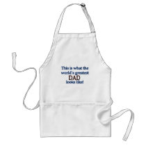 World's Greatest Dad Adult Apron
