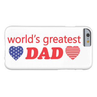 WORLDS GREATEST DAD BARELY THERE iPhone 6 CASE