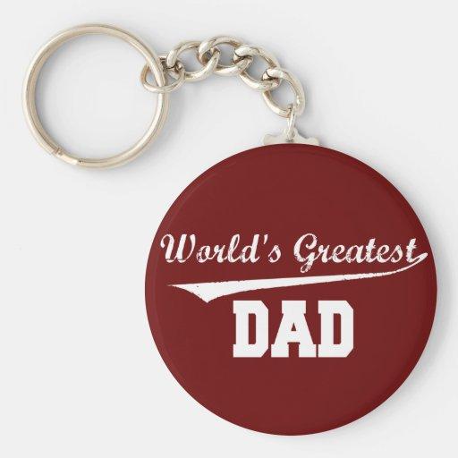 World's Greatest Dad Basic Round Button Keychain