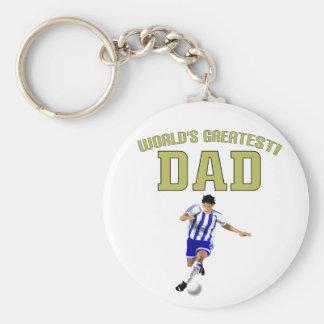 World's Greatest Dad! Basic Round Button Keychain