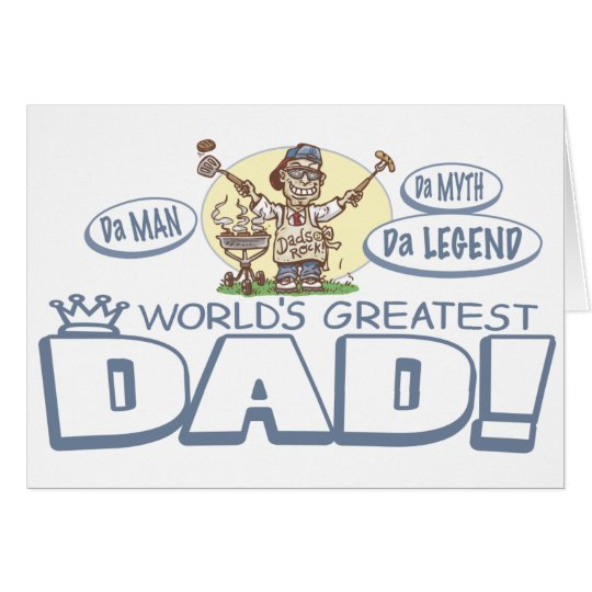 World's Greatest Dad BBQ Card