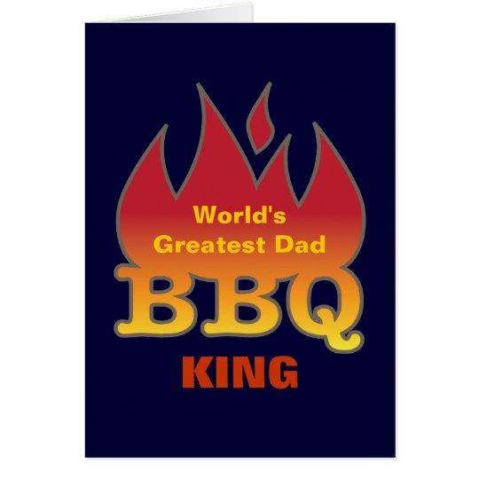 World's Greatest Dad BBQ KING Card