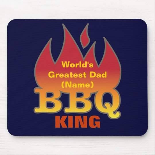 World's Greatest Dad BBQ KING Mouse Pad