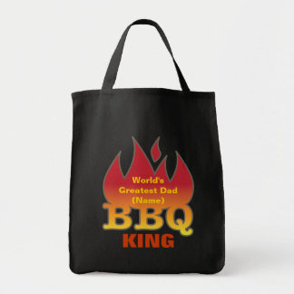 World's Greatest Dad BBQ KING Tote Bag