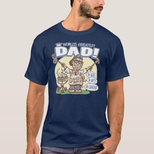 World's Greatest Dad BBQ T-Shirt