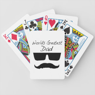 World's Greatest Dad Bicycle Playing Cards