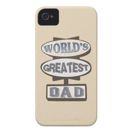 World's Greatest Dad BlackBerry Barely There Case iPhone 4 Cases