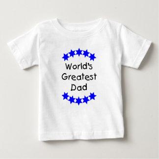 World's Greatest Dad (blue stars) Baby T-Shirt