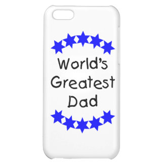 World's Greatest Dad (blue stars) iPhone 5C Cover
