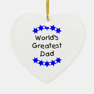 World's Greatest Dad (blue stars) Ornaments