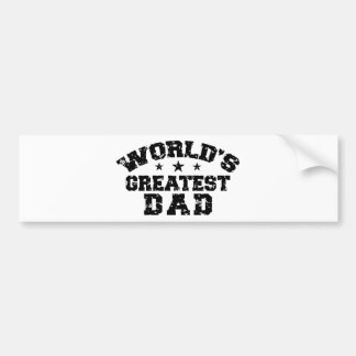 World's Greatest Dad Bumper Sticker