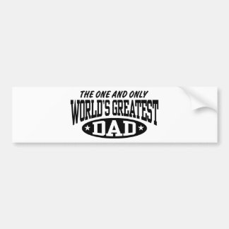 World's Greatest Dad Bumper Sticker