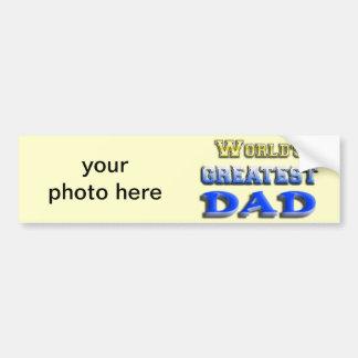 World's Greatest Dad Car Bumper Sticker