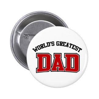 Worlds Greatest Dad Button Red