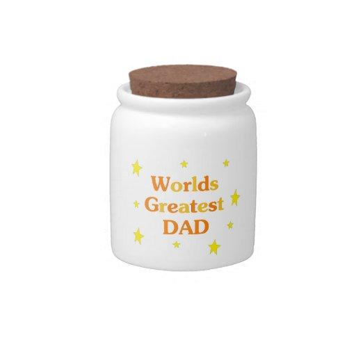 Worlds Greatest Dad Candy Jars