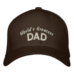 Embroidered Flexfit Wool Cap with Embroidered Dad Gifts design