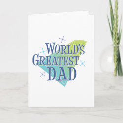 Standard Card with World's Greatest Dad design