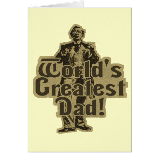 Worlds Greatest Dad Card